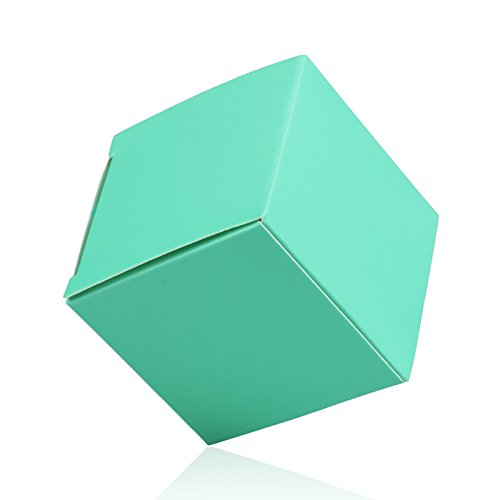 "vLoveLife 2""x2""x2'' Teal Blue Square Cute Gift Box Candy Boxes Anti-Scratch Kraft Paper Wedding Party Favour Boxes - Pack Of 50"