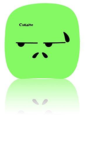 Aufbewahrungsbox für Kontaktlinsen - Reiseset - Box - Face/Smiley - Grün