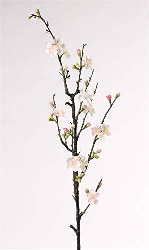 artplants.de Rama de Manzano en Flor Artificial SADAKA, 14 Flores, Blanco-Rosa, 85cm - Vara Decorativa - Rama con Flores