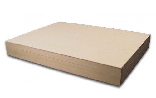 MidaCreativ Holzbox, Aufbewahrungsbox, Holz-Kassette (innen größer A4), Linde unbehandelt