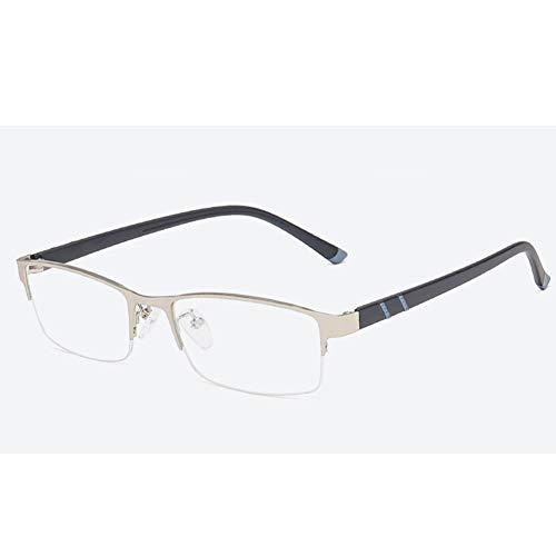 EYEphd 2021 Masculino Zoom Inteligente bifocales Gafas de Lectura, multifocal progresiva fotocromáticos HD Resina Lente Gafas de Sol / UV400 / UV Protección dioptrías +1,0-+3,0,Plata,+2.5