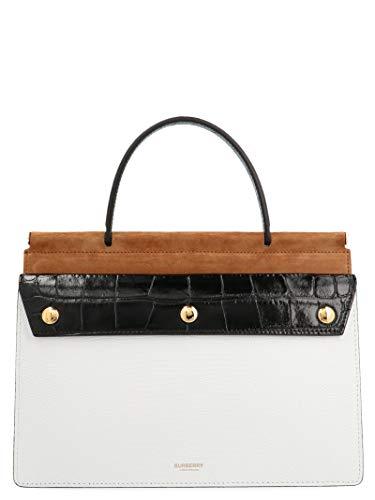 Burberry Moda De Lujo Mujer 8022963 Blanco Cuero Bolso De Mano | Primavera-verano 20