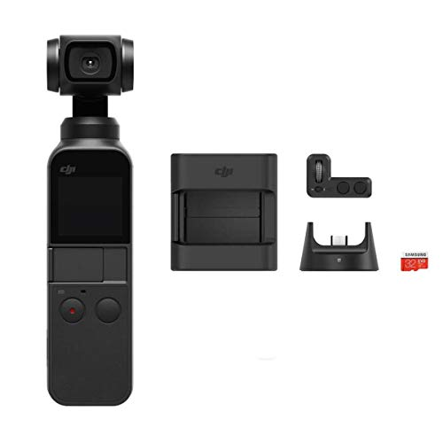 DJI Osmo Pocket Handheld 3 Axis Gimbal Stabilizer with integrated Camera, Attachable to Smartphone, Android (USB-C), iPhone with Osmo Pocket...