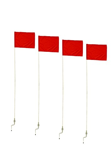 "Get Out! Corner Flags for Soccer Field, 60"" Inch 4-Pack – Soccer Flags & Soccer Poles – Soccer Equipment for Training"