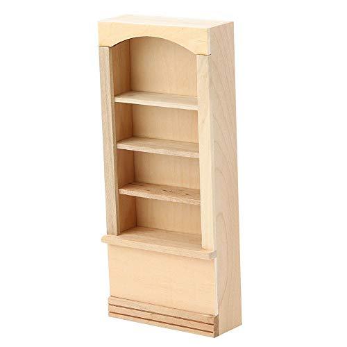 Borlai 1:12 Mini Librería Muebles de Casa de Muñecas Decoración de Casa de Muñecas Modelo de Estantería de Madera para Muñecas Accesorios de Muebles de Casa de Muñecas DIY 18. 1 X 8 Cm
