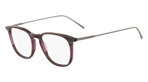 Lacoste L2828, Acetate Occhiali da Sole Striped Burgundy/Grey Unisex Adulto, Multicolore, Standard