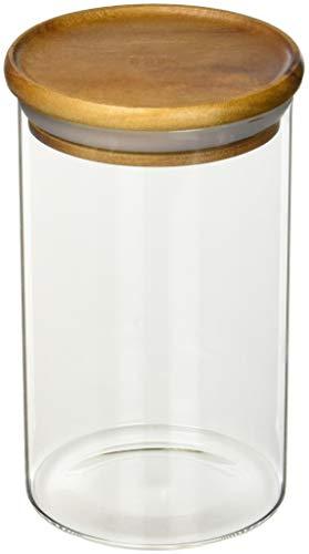 A'Domo DK-ACA-7008 Dagelijks Voedsel Glas Container met Acacia Hout Deksel 700Ml, Multi kleuren