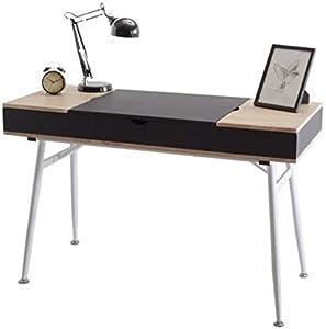 Selsey Visby - Bureau scandinave / Bureau Design Noir / Effet chêne, 120 cm
