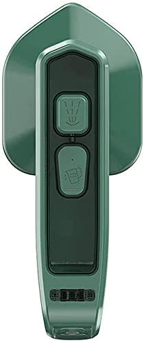Micro plancha de vapor profesional portátil sin cable, mini vapor de mano de tela, vaporizador de ropa, planchado colgante, para el hogar y los viajes (green01)