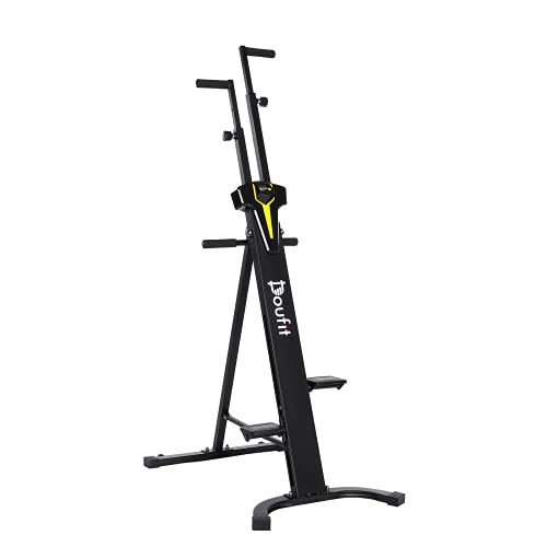 Vertical Climber Exercise Machine, Doufit Upgraded Folding Cardio Full Body Workout Climbing Stair Stepper for Home Gym