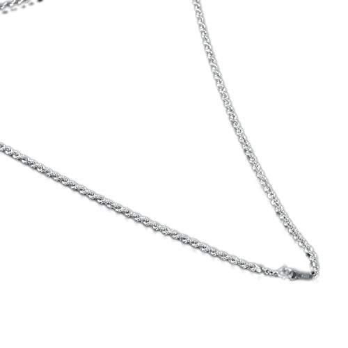 [ルビイ] プラチナ Pt850 パイプロープ チェーン ネックレス 幅2.7mm 長さ45cm