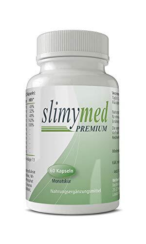 SLIMYMED Premium Kapseln | 100% natürliche Inhaltsstoffe | schnell & einfach zur Einnahme | ohne Koffein | für Männer und Frauen (60 Pillen)