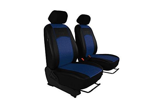 Autositzbezüge, Sitzbezüge Set, BUS 1+1 in Kunstleder passend für VIANO in diesem Angeboten BLAU (in 7 Farben bei anderen Angeboten erhältlich). Komplett besteht aus: Fahrersitz + Beifahrersitz + 2 Kopfstützen + Montagehäckchen