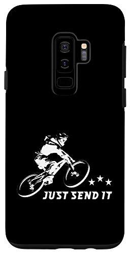 Galaxy S9+ Just Send It Funny Mountain Bike Case