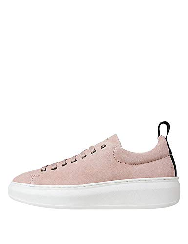 Jim Rickey Women's Club Tech - Cow Suede Sneakers Pink in Size 40