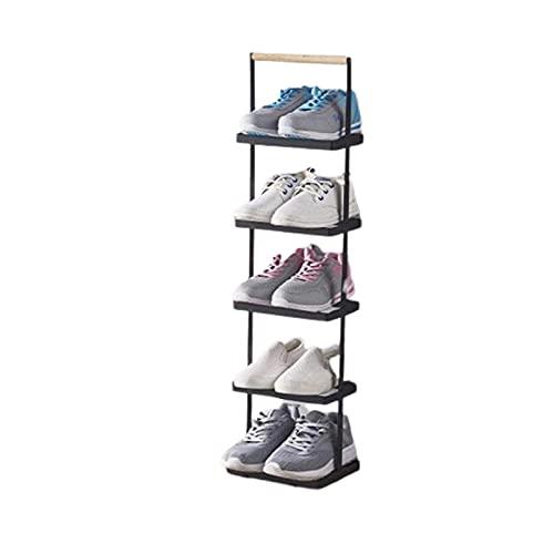 AEF Estante De Zapatos 5 Pisos, Zapatero Ahorrador De Espacio, Estante De Metal, Estantes De Almacenamiento De Pie con Capacidad Pares Zapatos para Sala Estar, Entrada, Pasillo Y Guardarropa