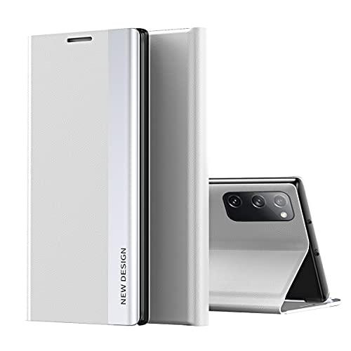 Galaxy S20 FE Funda, Midcas Ultra-Delgado Cierre Magnético Flip Cover Piel sintética Carcasa con Soporte Plegable para Samsung Galaxy S20 FE Blanco