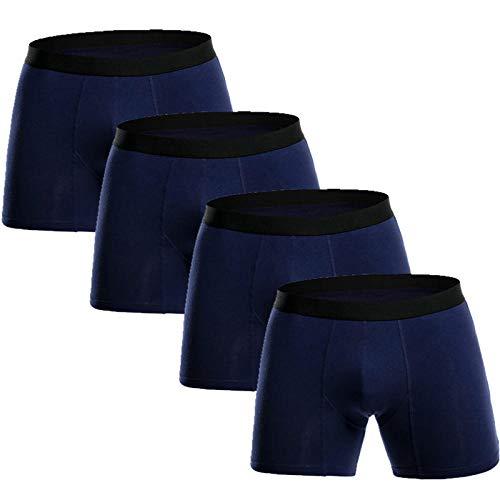TIGERROSA Calzoncillos Boxer para Hombre 4Pcs Pack Long Boxers Mens Underwear Homme Underpants Trunk…