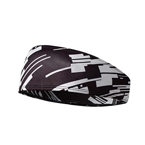 WEARRR Hombres Camuflaje Estiramiento Sweatband Gym Correr Deportes Deportes Accesorio (Color : Grey Black)