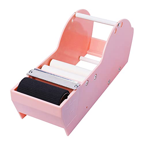 WELSTIK Water Activated Gummed Kraft Paper Tape Packaging Dispenser 3 Inch for Shipping, Carton and Box Sealing, Pink
