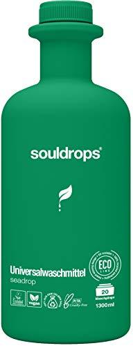 Souldrops seadrop Organische Waschmittel 1300ml | Umweltfreundlich, Vegan, Pflanzenbasiert, Nachhaltiges, ohne Tierversuche