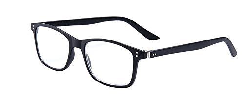 iconische Panto kant-en-klare leesbril / -hulp met insteeketui + 3,0 dpt Zwarte Blueblocker