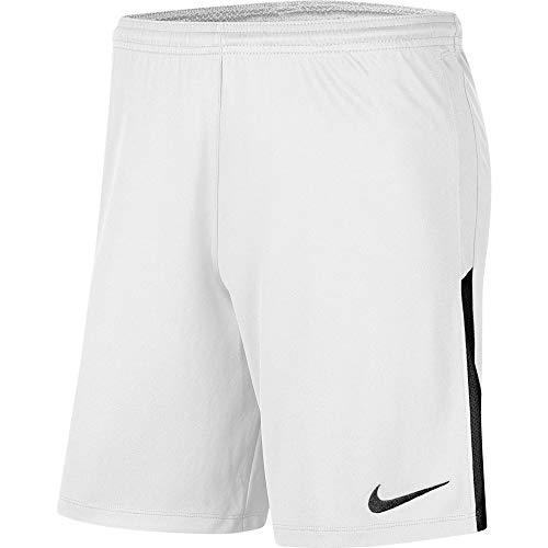 NIKE Y NK Dry Lge Knit II Short NB Sport Shorts, Niños, White/Black/Black, L