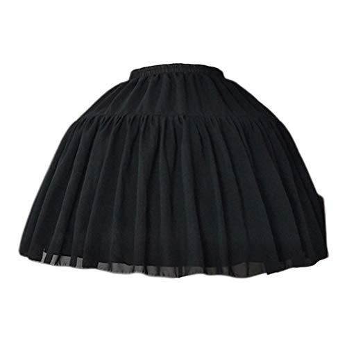 planuuik Cosplay Falda Corta de Espina de Pescado Lolita Carmen Slip Liner Faldas Lindas para niñas Enagua Ajustable