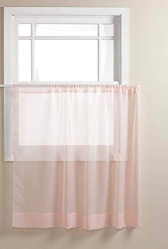 Stylemaster Elegance 60 by 36-Inch Sheer Voile Panel, Pink