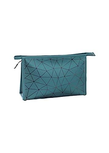 FGHO Organizer professionale per trucchi, cosmetici, da viaggio, con funzione a scatto, borsa per trucchi, borsa da viaggio portatile., verde, 2Grün,
