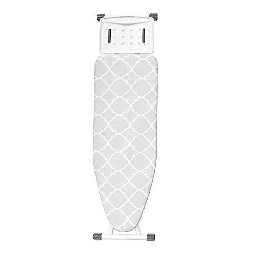 Tabla de planchar de tamaño familiar tabla de planchar con ajuste de altura con mini funda extra para 4 vapores y accesorios (tamaño: 34 x 125 cm; color: malla)