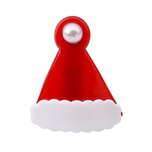 Airlove Weihnachten Haarspangen Schöne Weihnachts Haarspangen Weihnachtsmütze Haarnadeln für Frauen Mädchen