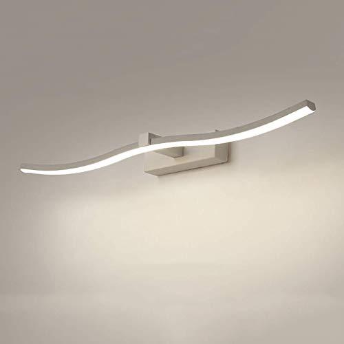 Spiegelkoplamp badkamer wandlamp LED spiegelschijnwerper waterdicht en beslaat niet, spiegellamp lengte: 40 60 80 100 cm. (Kleur: wit licht, grootte: 100cm-18W)