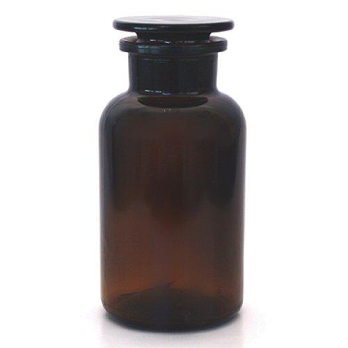 3 x Apothekerflasche 500 ml - Farbe: Braun - inkl. Glasstopfen *** Weithalsflasche Apothekerglas Stopfenflasche Laborflasche Laborglas Rundschulterflasche Weithalsflaschen Apothekergläser Stopfenflaschen Laborflaschen Laborgläser Rundschulterflaschen ***