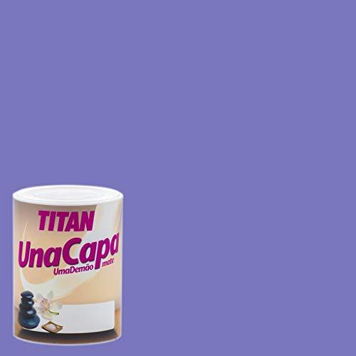 Titan 69637134 - Pintura plástica mate LILA INTENSO Titan UNA CAPA
