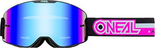 O'NEAL | Fahrrad- & Motocross-Brille | MX MTB DH FR Downhill Freeride | Verstellbares Band, optimaler Komfort, perfekte Belüftung | B-20 Goggle | Erwachsene | Schwarz Pink verspiegelt | One Size