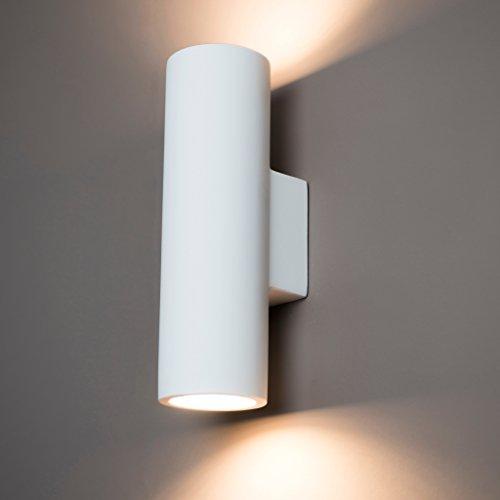 Up /& Down Wandleuchte aus Gips gemalbar Gipslampen Gipsleuchten Wandlampe
