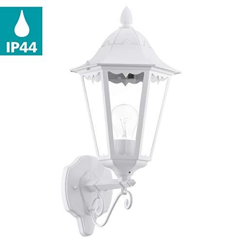 Preisvergleich Produktbild EGLO Außen-Wandlampe Navedo,  1 flammige Außenleuchte,  Wandleuchte aus Aluguss und Glas,  Farbe: Weiß,  Fassung: E27,  IP44