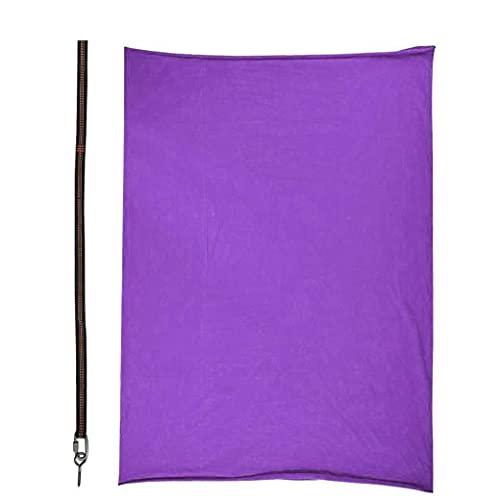 BRAVOSOLEIL Hamaca Volando Terapia Swing Sensor Swing Ajustable Nylon Yoga Hamaca con Correa De Extensión Dark Purple