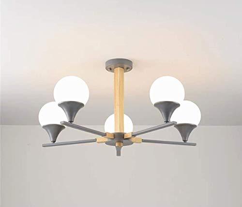 Plafondlamp magische bont moleculaire kroonluchter hanglamp creatieve tak massief hout kandelaar hanglamp restaurant slaapkamer decoratie woonkamer keuken hanglamp E27, 8 koppen