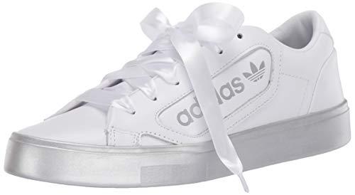 adidas Originals Women's Adidas Sleek W Shoe, FTWR White/Silver Met./Silver Met, 11 M US