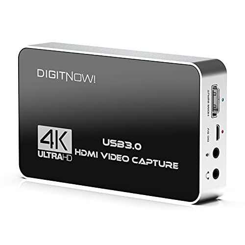 4K 60Hz Video Capture Card con uscita loop, USB 3.0 con microfono e auricolare, Risoluzione di acquisizione fino a 4K nel formato NV12 di altissima qualità registrazione giochi, streaming,videocamera
