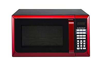 Hamilton Beach 0.9 cu.ft. Microwave Oven, Red