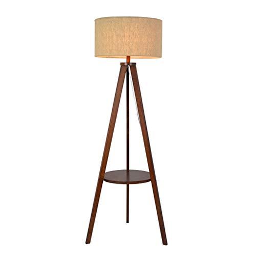 Lampes de chevet Lampadaire Salon Étude De Chambre Lampe De Plancher en Bois Massif Simple Stockage Moderne Table Basse Lampe De Sol (Color : Beige, Size : 45 * 155cm)