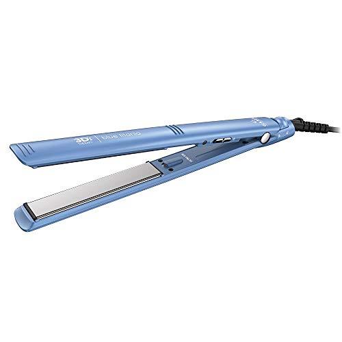 Prancha Gama GAMA Blue Titanium 3D - GAMA Italy- bivot BECHS0000002419, AZUL/PATINS CINZA