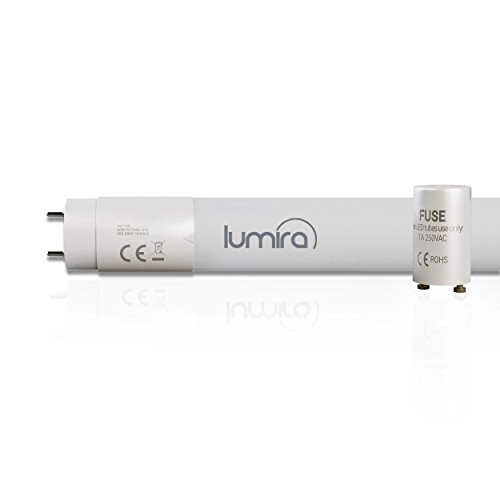 Lumira LED G13 T8 TL-buis, 120 cm lang, 18W in plaats van 36 watt, LED-buis TL-lamp, breukvast, incl. Starter-overbruging, 1750 lumen