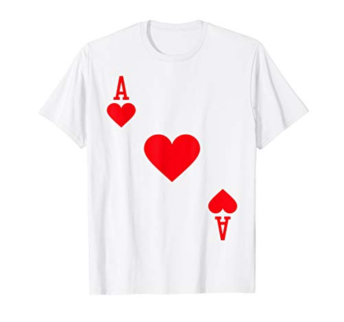ACE OF HEARTS Kostüm T-Shirt Halloween Deck Of Cards