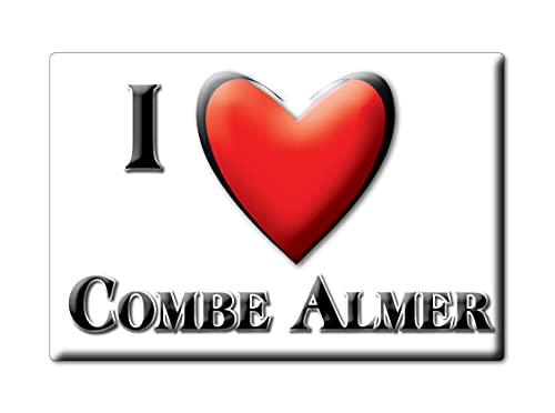 Enjoymagnets Combe ALMER (Eng) Souvenir IMANES DE Nevera Inglaterra England IMAN Fridge Magnet Corazon I Love