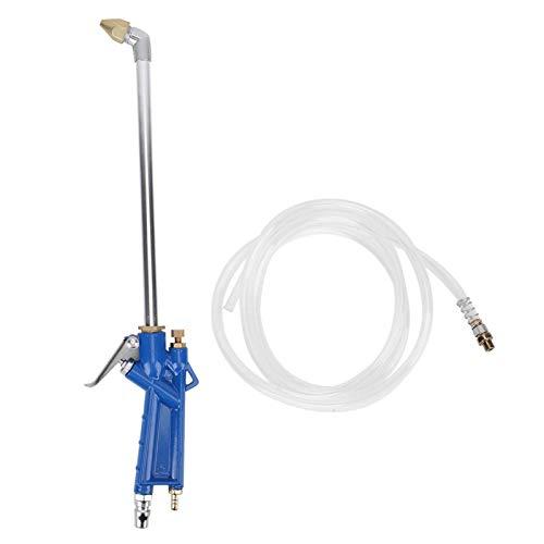 Pistola de limpieza de coche, pistola de limpieza automática, pistola de limpieza de agua de coche de 40 cm, limpiador de aceite de motor, herramienta neumática con manguera de 1,2 m azul