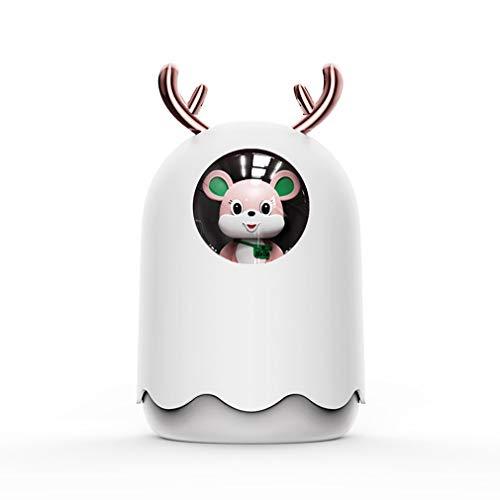 Nrew Blanco ultrasónico del Aroma del difusor del Aceite Esencial del Aroma del humidificador del Aire del USB 300ml